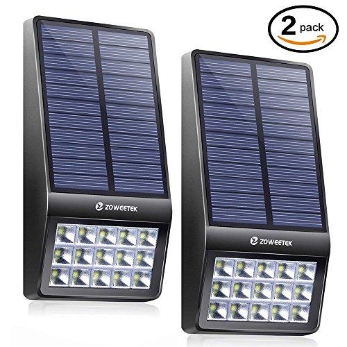 Encounters 2 Light (Zoweetek Motion Sensor Solar Light, Outdoor Waterproof Security LED Lights (2 Packs))