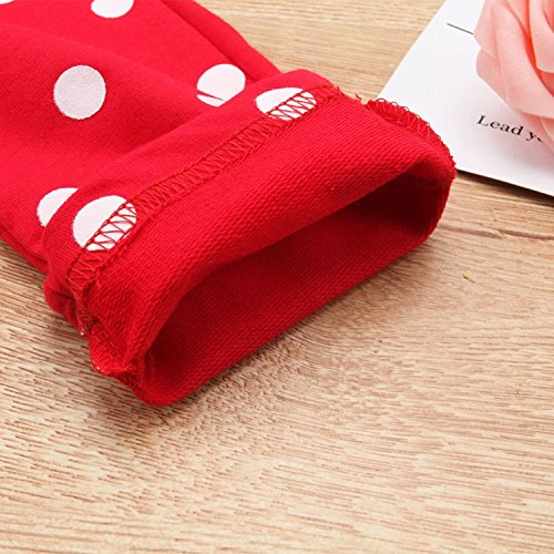 Baby Girl Clothes Infant Outfits Set 2 Pieces Long Sleeved Tops + Pants (2-3 T, Red) by MH-Lucky (Image #6)