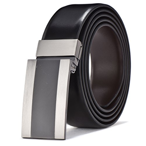 Mens Leather Buckle Dress Belt - 9