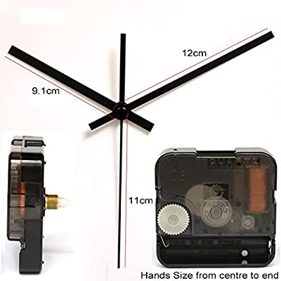 Amazon Com 12888sh 24 Hour Movement Screw In Type Clock Accessory Quartz Plastic Leap Movement With 1 Black Clock Hand Clock Kits Home Kitchen