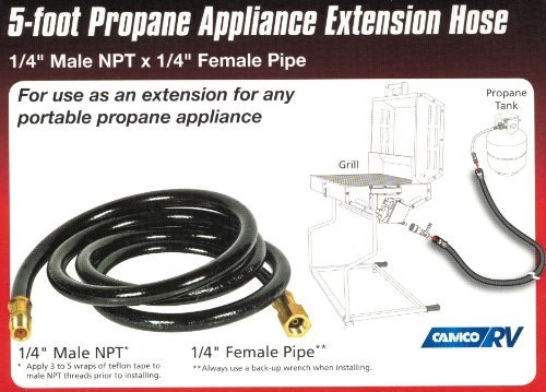 Propane Hose Connector LP Transfer Hose Adapter (Connects Portable Propane Appliance to Large Tank)