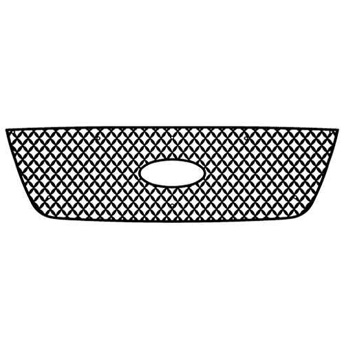 Ferreus Industries Black Powdercoat Diamond Mesh Grille Grill Insert Trim fits: 2001-2003 Ford Ranger with Factory Honeycomb Style Grill TRK-150-04black