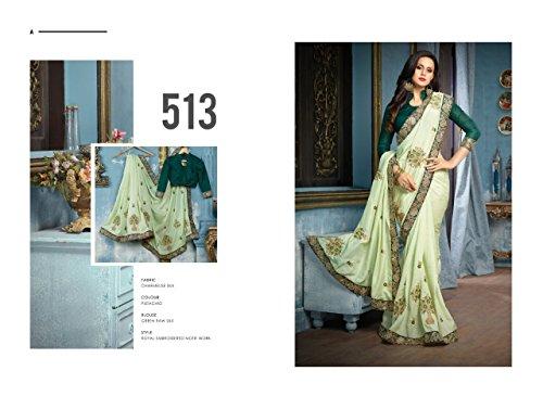 2774 partywear indiano Emporium sari Etnico gonna raso bollywood tradizionale ETHNIC culturale EMPORIUM designer etnico saree Rz6aaw