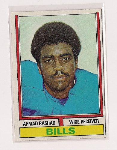 1974 Topps #105 Ahmad Rashad Rookie Football Card