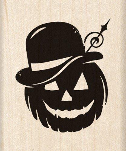 Inkadinkado Pumpkin - Inkadinkado Wood Stamp, Bowler Hat Pumpkin