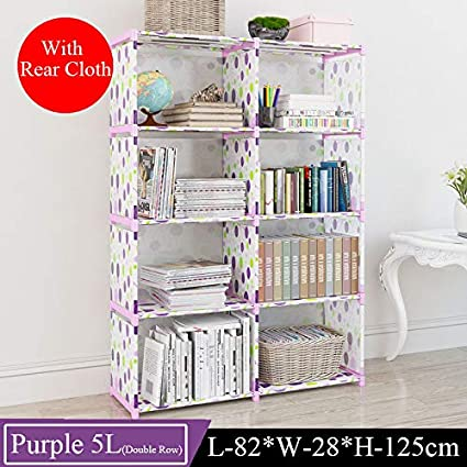 IEJDGO Scaffale di stoccaggio Creativo Multi-Tier Bookshelf Semplice Bear 4L A