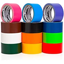 Multi Colored Duct Tape - Variety Pack -12 Colors - 10 yards x 2 inch rolls. Girls & Boys Kids Craft Duck Set, Fun DIY Art Kit – Rainbow: Black red orange white green yellow pink blue brown maroon yr