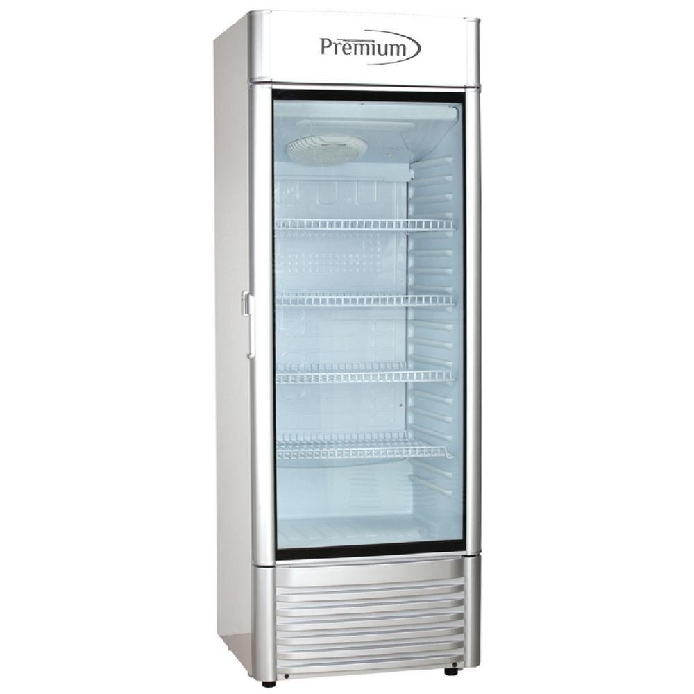 Premium PRF125DX 12.5 cu. ft. Single Door Merchandiser Refrigerator, Gray by Premium