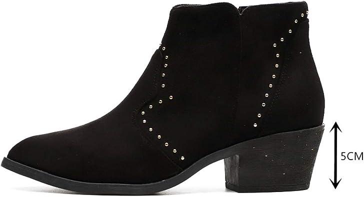 Botines Camperos Mujer Botas Cortas Tacon 5cm Chelsea Boots ...