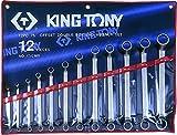 King T. 1712MR-Astuccio con chiavi poligonali Contrecoudes metriche, Set di 12
