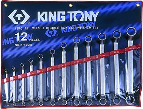 King T. 1712MR-Astuccio con chiavi poligonali Contrecoudes metriche, Set di 12 by King Tony (Image #1)