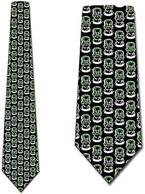 Corbata Para Hombre Corbata,Frankenstein Corbata Verde Sobre Negro ...