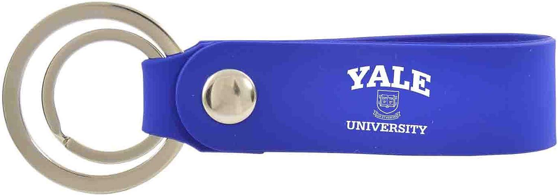 Yale University-Silicone Snap Key Chain-Blue