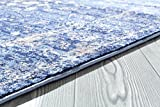 Persian-Rugs 2817 Distressed Blue 8 x 10 Area Rug
