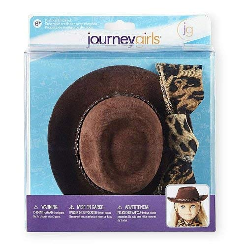 (Toys R Us Journey Girls Outback Hat and Leopard Print Scarf Fashion Hat)