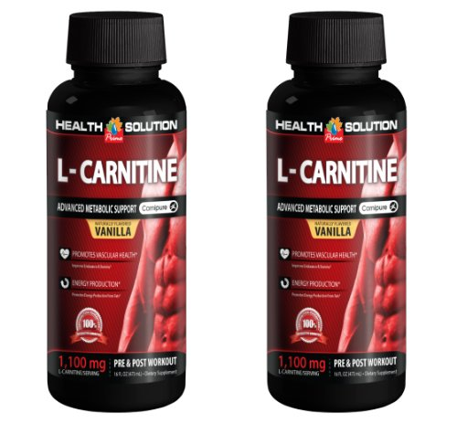 Energy boost pre workout - L-CARNITINE 1100mg PRE & POST WORKOUT LIQUID - L-carnitine healthy body - 2 Bottles