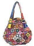 Heshe Women's Hobo Shoulder Bags Cross Body Tote Handbags Purses with Flower Summer Style