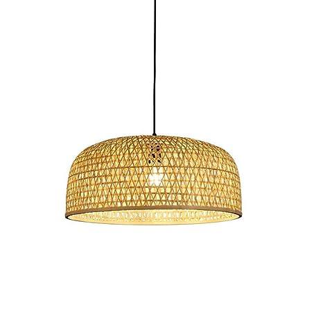 Araña Iluminación Colgante Luz Lámpara Bambú Mimbre De ...