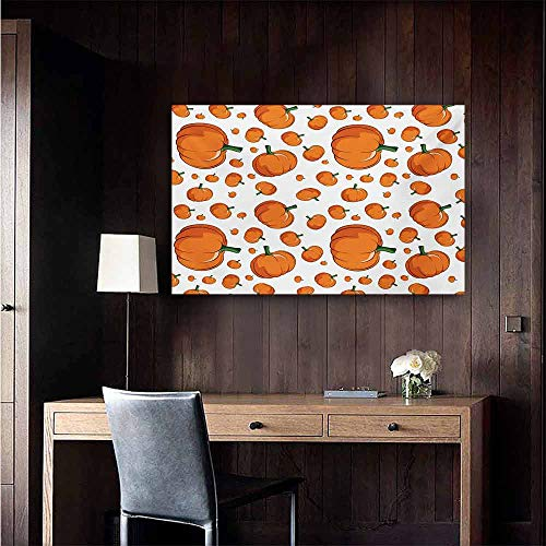 duommhome Harvest Light Luxury American Oil Painting Halloween Inspired Pattern Vivid Cartoon Style Plump Pumpkins Vegetable Home and Everything 24