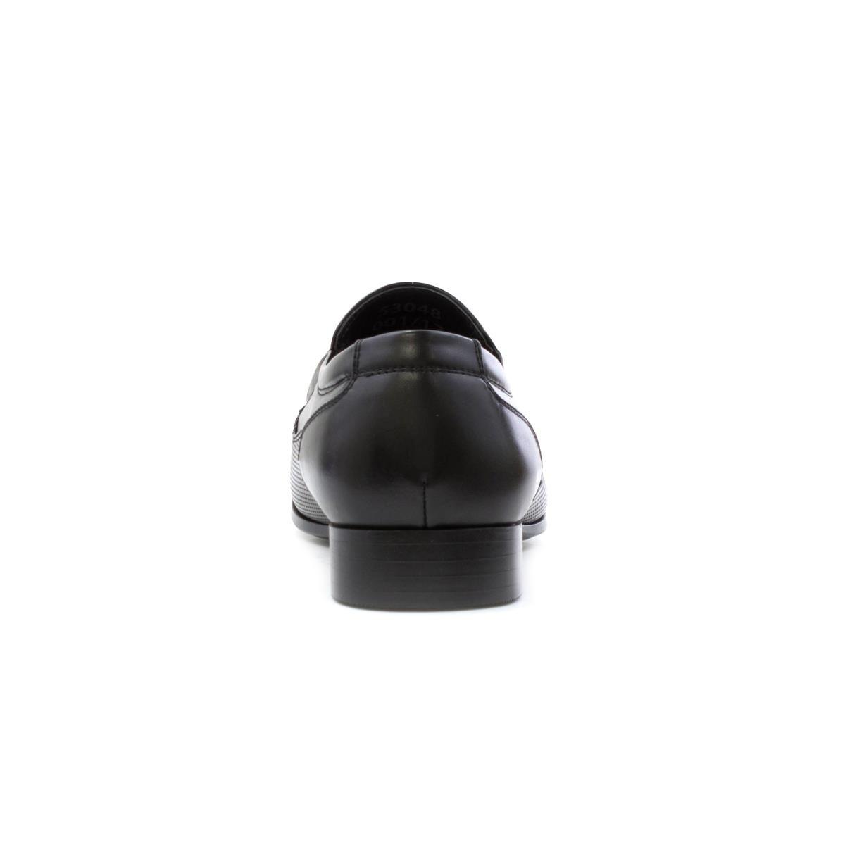 BECKETT Mens Black Smart Slip On Shoe