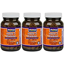 Indole-3-Carbinol (I3C) 200 mg, 60 Vcaps by Now Foods (Pack of 3)