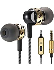 Betron AX5 Earphones Headphones with Microphone Balanced Bass Driven Sound for Iphone, Ipad, Ipod, Samsung, Mp3 Players, Smartphones and Tablets