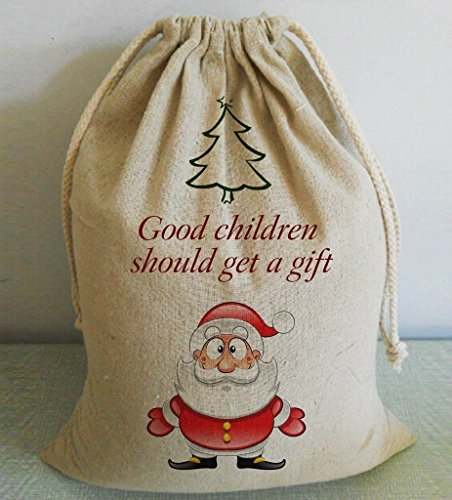 Cute Burlap Christma Sack Christmas Bags Large for Gifts for Kids