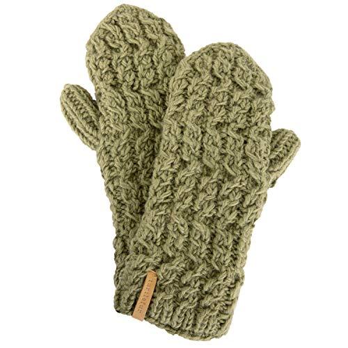(Turtle Fur Mika Mittens Nepal Hand Knit Wool Mitten Lined/Fleece Sage )