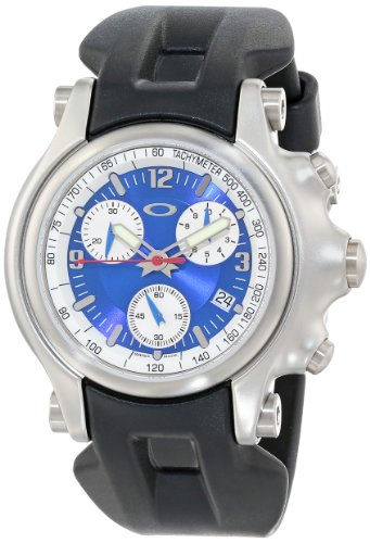Oakley Men's 10-218 Holeshot Unobtainium Strap Edition Chronograph Rubber Watch