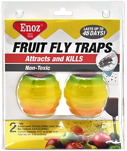 Willert Home Products Enoz Fruit Fly Trap - Twin Pack (3)