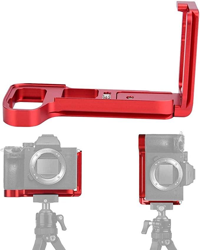 Simlug Camera Bracket Durable Quick Release QR L-Shaped Camera Bracket Vertical Grip for Sony A7M3//A7R3//A9 Blue