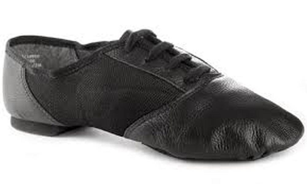 458 capezio split sole jazz shoes us 7.5 uk size 5.5 black new