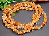 g3-30G  1連90cm  Aオレンジアベンチュリン ヒスイ翡翠 さざれ インド産 天然石 パワーストーン
