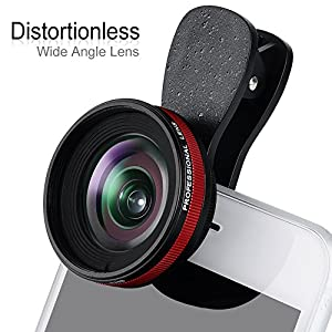 Professional 2in1 Mobile Phone Camera Lens with 0.6X Wide Angle Lens & 15X Macro Lens for Smartphones