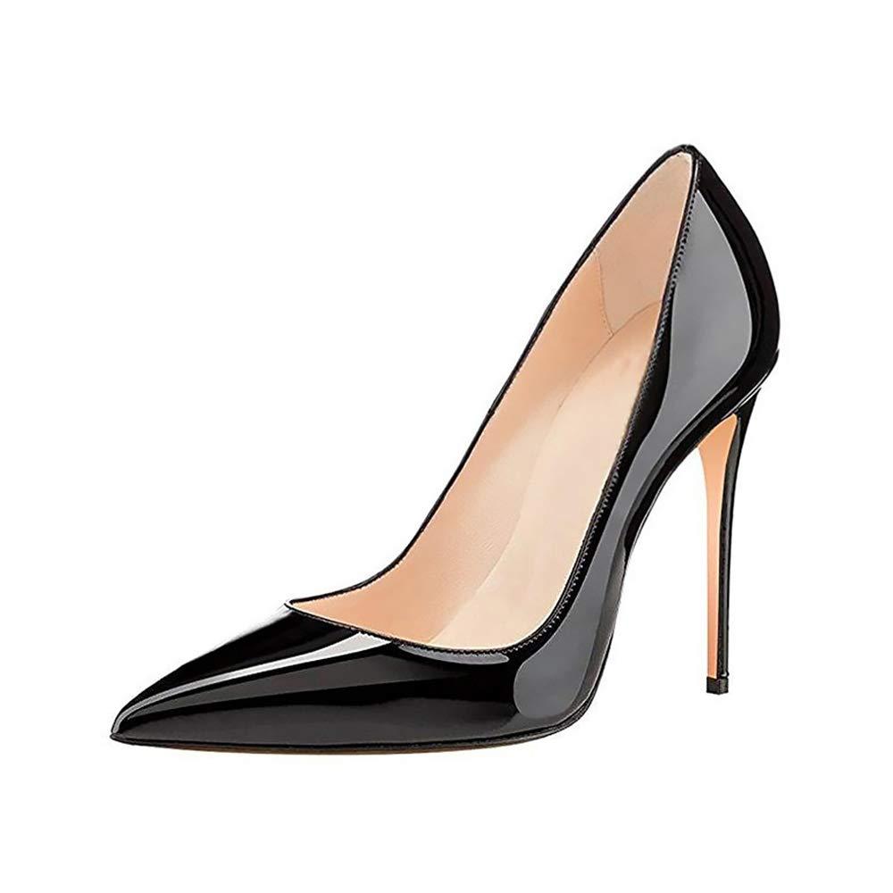 GENSHUO Chaussures /à Talon Aiguille /à Talon Aiguille pour Femme 10 cm