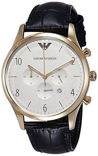 Emporio Armani Men's AR1892 Dress Black Leather Watch