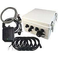 Linortek Netbell-4 TCP/IP Ethernet 4 Zone Bell Ringer Web-based Bell Controller for Alarm Signal Bell/Horn/Buzzer and Other Timed Equipment POE
