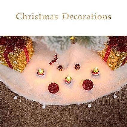 Amazon Com Beautiful Christmas Tree Skirt Xmas Deer Base