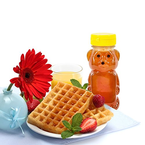 Clearview Container 24 Pack Honey Bear With Flip Top Lid