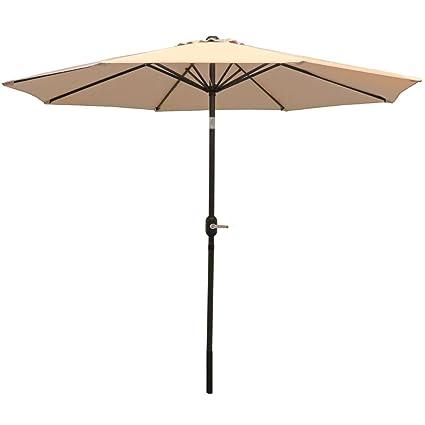 Amazon Com Sunnydaze 9 Foot Outdoor Patio Umbrella With Tilt