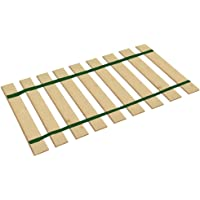 The Furniture Cove Queen Size Bed Slats Platform Bunkie Boards Custom Width with Dark Green Straps-Help Support Your Box Spring and Mattress-Made in The U.S.A.!