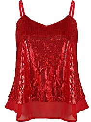 Women's Sequined Sleeveless Camisole Tops