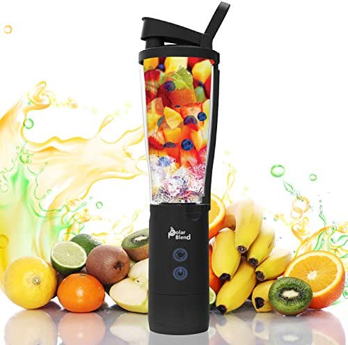Polar Blend Portable and Cordless Blender - USB Rechargeable with Leak-Proof Lid Ideal for Shakes and Smoothies - Convenient for Travel, Office, and Gym Use 24 oz.