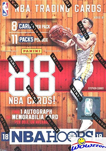(2018/2019 Panini Hoops NBA Basketball HUGE Factory Sealed Retail Box with AUTOGRAPH or MEMORABILIA! Loaded with RCS & INSERTS! Look for RC & Autos of Luka Doncic, Deandre Ayton, Trae & More! WOWZZER!)