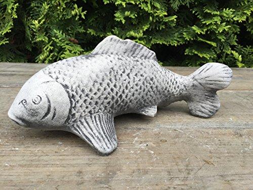Steinfigur Teichfigur Gartenfigur Teich Garten Deko Fisch Koi frostfest L 24 cm