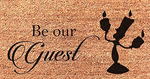 Be Our Guest Lumiere Beauty and The Beast Door Mat Wedding New Home Gift Doormat
