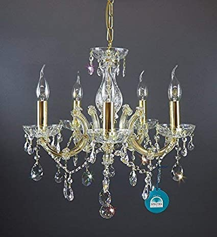 Lámpara de araña lámpara de cristal SPECTRA ø45cm CRYSTAL de ...
