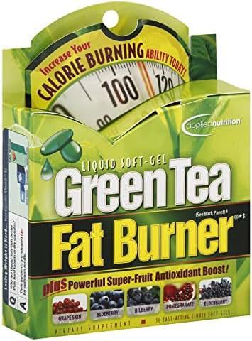 Applied Nutrition Green Tea Fat Burner Liquid Soft-Gels 30 Soft Gels (Pack of 2)
