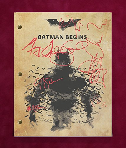 Batman Begins Script With Reproduction Signatures Bale Neeson C3