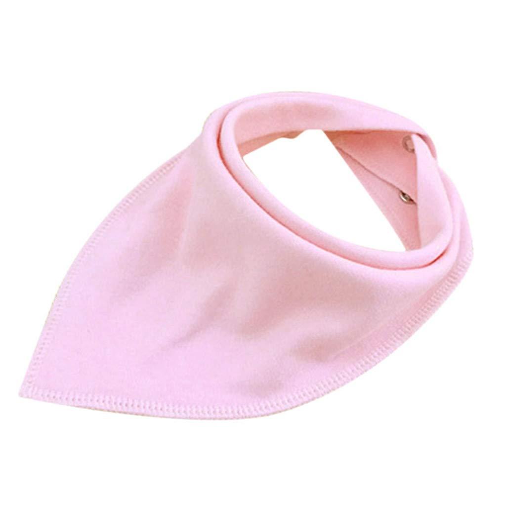 SEVENHOPE Burp Cloths Adjustable Baby Bib Cotton Napkin Boy Girl Bandana Toddler Bibs Comfy Drooling Teething Newborn Infant Bibs (Yellow) DABO